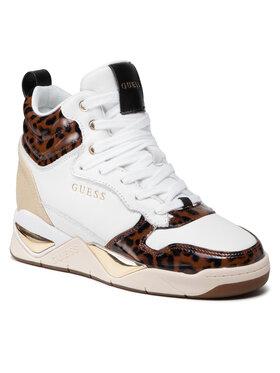 Guess Guess Sneakersy FL7DEN PEL12 Biela