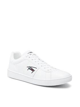 Tommy Jeans Tommy Jeans Sneakersy Cupsole Tjm Leather EM0EM00719 Biela