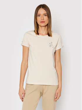 Outhorn Outhorn T-Shirt TSD615 Beżowy Regular Fit