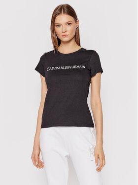 Calvin Klein Jeans Calvin Klein Jeans Marškinėliai Institutional J20J207879 Juoda Regular Fit