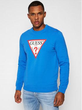 Guess Guess Majica dugih rukava M1RQ37 K6ZS1 Plava Slim Fit