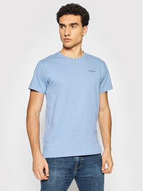 Pepe Jeans Pepe Jeans T-shirt Derek PM508011 Blu Regular Fit