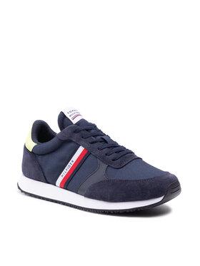 Tommy Hilfiger Tommy Hilfiger Sneakersy Runner Mix Stripes FM0FM03616 Granatowy