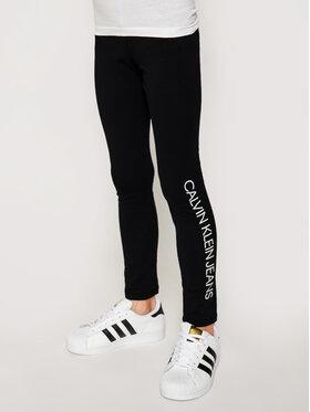 Calvin Klein Jeans Calvin Klein Jeans Leggings Logo IG0IG00740 Crna Slim Fit
