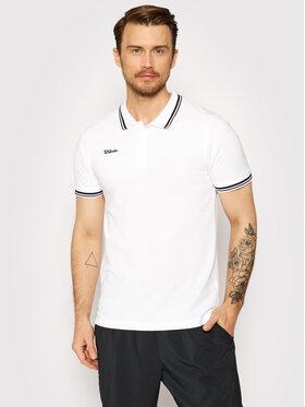 Wilson Wilson Тениска с яка и копчета M Team Ii WRA794301 Бял Regular Fit