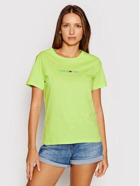 Tommy Jeans Tommy Jeans T-shirt Tjw Multi Linear Logo DW0DW09818 Vert Slim Fit