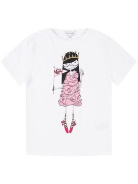Little Marc Jacobs Little Marc Jacobs T-Shirt W15484 M Biały Regular Fit