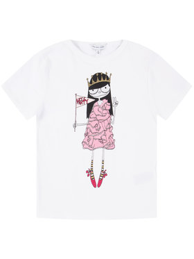 Little Marc Jacobs Little Marc Jacobs Тишърт W15484 M Бял Regular Fit