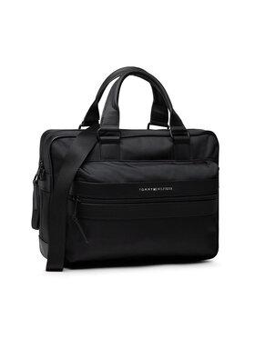 Tommy Hilfiger Tommy Hilfiger Чанта за лаптоп Elevated Nylon Computer Bag AM0AM07748 Черен
