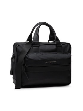 Tommy Hilfiger Tommy Hilfiger Τσάντα για laptop Elevated Nylon Computer Bag AM0AM07748 Μαύρο