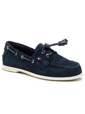 Tommy Hilfiger Tommy Hilfiger Mokasinai Essential Boat Shoe FW0FW05639 Tamsiai mėlyna
