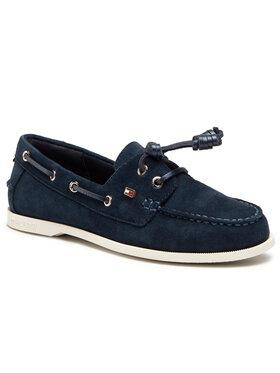 Tommy Hilfiger Tommy Hilfiger Μοκασίνια Essential Boat Shoe FW0FW05639 Σκούρο μπλε
