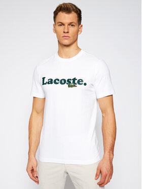 Lacoste Lacoste Tričko TH1868 Biela Regular Fit