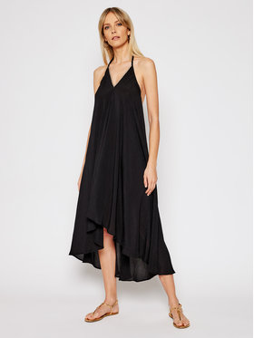 Banana Moon Banana Moon Плажна рокля Ohara Goldenroa V9N01 Черен Regular Fit