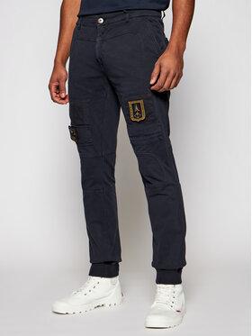 Aeronautica Militare Aeronautica Militare Joggers kalhoty 211PF743J217 Tmavomodrá Slim Fit