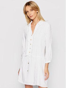 Melissa Odabash Melissa Odabash Sukienka koszulowa Scarlett CR Biały Regular Fit