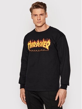 Thrasher Thrasher Longsleeve Flame Czarny Regular Fit