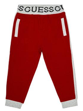 Guess Guess Spodnie dresowe N0BQ07 K82T0 Czerwony Regular Fit