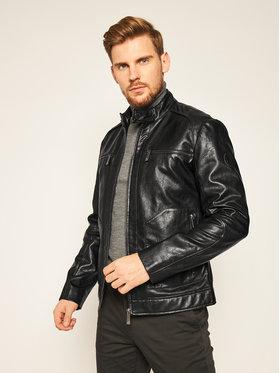 Trussardi Jeans Trussardi Jeans Veste en cuir 52S00489 Noir Regular Fit