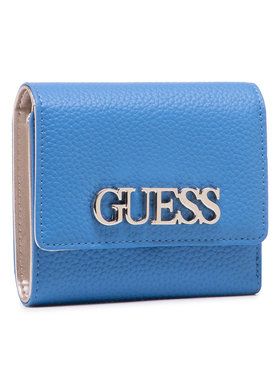 Guess Guess Голям дамски портфейл Uptown Chic (Vg) Slg SWVG73 01430 Син