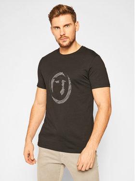 Trussardi Jeans Trussardi Jeans Tricou 52T00368 Negru Regular Fit