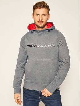 Musto Musto Bluză Evo Logo 82043 Gri Regular Fit