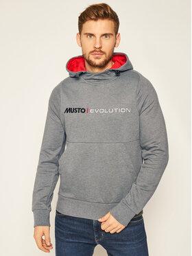 Musto Musto Суитшърт Evo Logo 82043 Сив Regular Fit