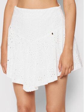 Rinascimento Rinascimento Mini sukně CFC0104040003 Bílá Regular Fit