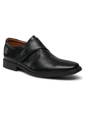 Clarks Clarks Félcipő Tilden Strap 261562567 Fekete