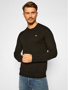 Tommy Jeans Tommy Jeans Sweter Light Blend Crew DM0DM08811 Czarny Regular Fit