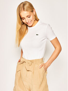 Lacoste Lacoste T-shirt TF5463 Blanc Slim Fit