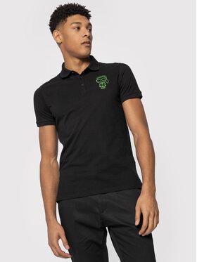 KARL LAGERFELD KARL LAGERFELD Тениска с яка и копчета 755081 501223 Черен Regular Fit