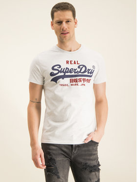 Superdry Superdry T-shirt Vl Premium Goods Heat M1000107A Grigio Regular Fit