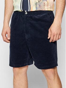 HUF HUF Pantaloncini di tessuto Pennybridge Corduroy PT00155 Blu scuro Regular Fit