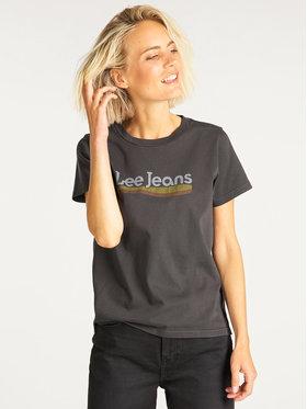 Lee Lee T-Shirt Crew Tee L41LET01 Černá Regular Fit
