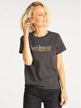 Lee Lee T-Shirt Crew Tee L41LET01 Schwarz Regular Fit