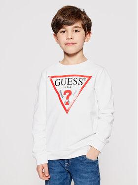 Guess Guess Bluză L73Q09 K5WK0 Alb Regular Fit