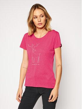 Salewa Salewa T-Shirt Deer 27848 Różowy Regular Fit