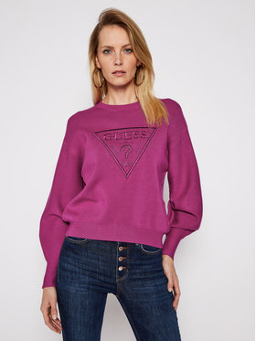 Guess Guess Sweter Lily W1RR0H Z26I0 Fioletowy Relaxed Fit