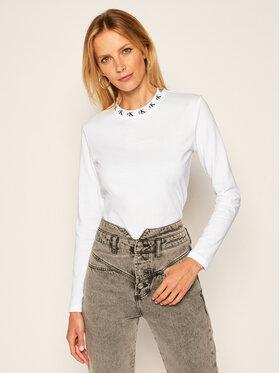 Calvin Klein Jeans Calvin Klein Jeans Bluză Logo Trim J20J214994 Alb Regular Fit