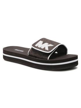MICHAEL Michael Kors MICHAEL Michael Kors Ciabatte Mk Platform Slide 40S1MKFA2B Marrone