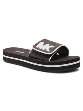 MICHAEL Michael Kors MICHAEL Michael Kors Pantoletten Mk Platform Slide 40S1MKFA2B Braun
