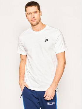 Nike Nike Тишърт Sportswear Club AR4997 Бял Standard Fit
