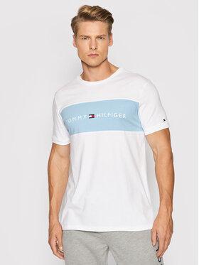 Tommy Hilfiger Tommy Hilfiger Тишърт Logo Flag UM0UM01170 Бял Regular Fit