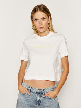 Calvin Klein Jeans Calvin Klein Jeans Tričko J20J211495 Biela Regular Fit