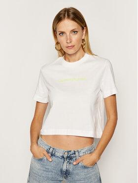 Calvin Klein Jeans Calvin Klein Jeans Tricou J20J211495 Alb Regular Fit