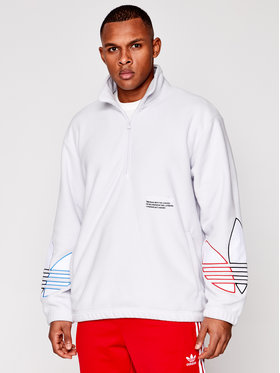 adidas adidas Fliso džemperis adicolor Tricolor GN8044 Balta Loose Fit