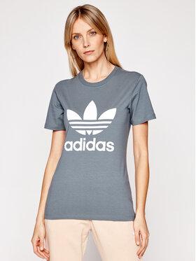 adidas adidas T-Shirt adicolor Classics Trefoil GN2903 Szary Regular Fit