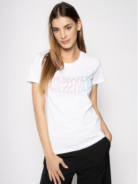 Trussardi Jeans Trussardi Jeans T-shirt Jersey Stretch 56T00254 Bianco Slim Fit