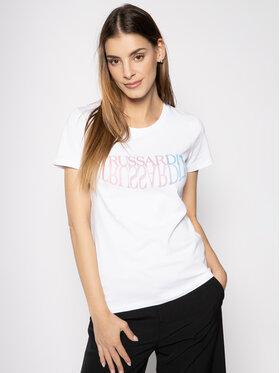 Trussardi Jeans Trussardi Jeans T-Shirt Jersey Stretch 56T00254 Weiß Slim Fit